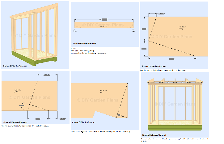 Small 4x8 Lean To Shed Plans For Storage Or Garden 4