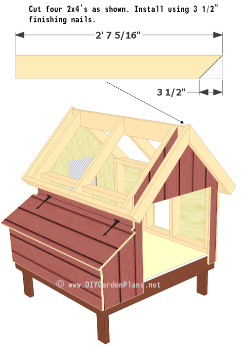 Chicken coop plans roof trim roof deck for 12x10 deck plans