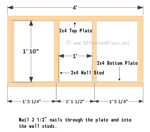 Chicken Coop Plans: Wall Framing