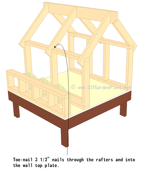 Chicken Coop Plans Truss Rafters