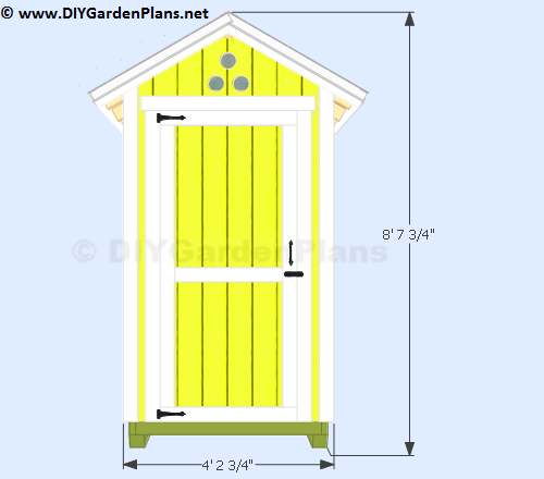 Garden Sheds 3 X 4 plans for a 4'x4' small garden shed