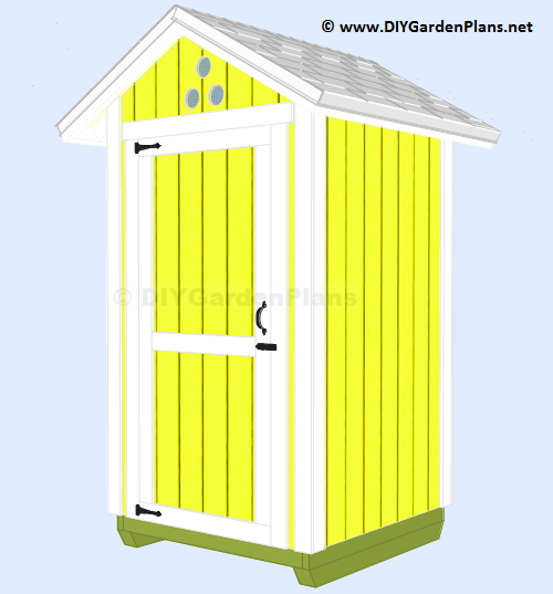 Plans for a 4 39 x4 39 small garden shed Building design tool