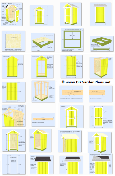 Plans For A 4 X4 Small Garden Shed