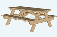Plans for a DIY picnic table PDF guide download