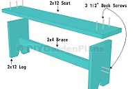 Plans for a simple board bench