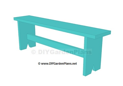 Simple design for a board bench, free plans