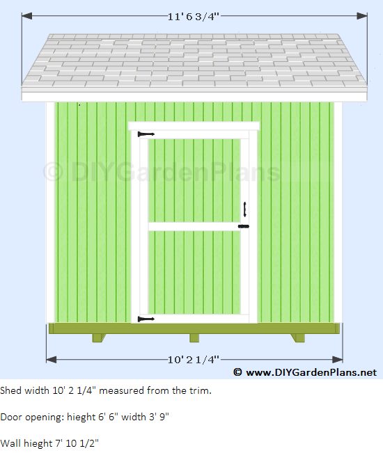 10 39 x8 39 gable shed for 10 x 8 shed floor plans