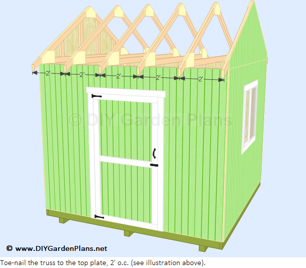How to build a shed roof installing roof truss and deck 10x10 deck plans
