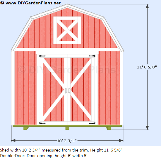 10 39 x10 39 gambrel shed for 10x10 shed floor plans
