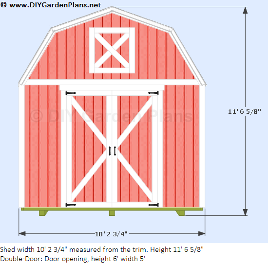 10'x12' Gambrel Shed