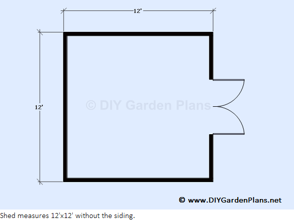 Diy 12 39 x12 39 gambrel shed 005 for 12 x 12 shed floor plans