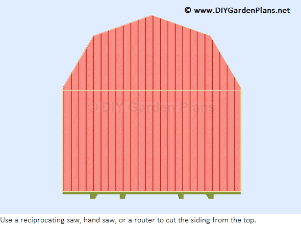 Bels 8x10 shed plans 10x10 for Gambrel shed plans with loft