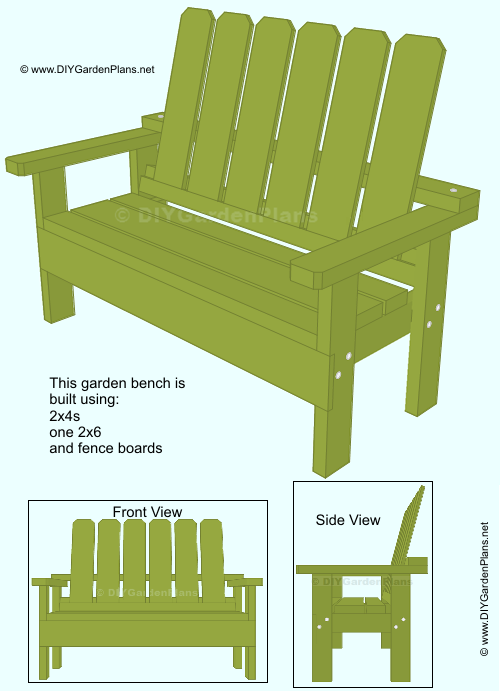 Free garden bench guide simple to build garden bench for Diy garden table designs