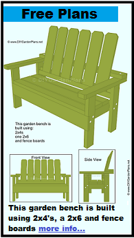 Build-it-yourself free garden bench plans PDF Download