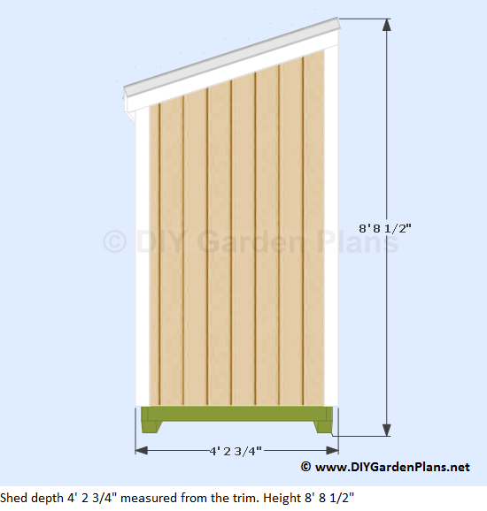 Garden Sheds 3 X 4 plans for a 4'x8' lean to shed