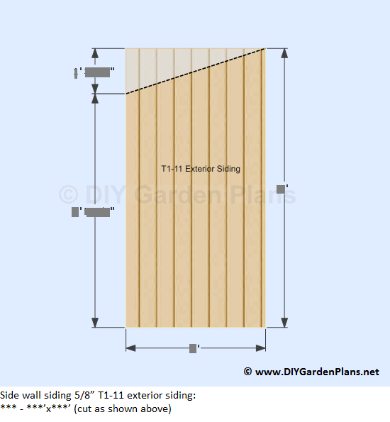 How To Install The Lean To Shed Sidewall Siding Back