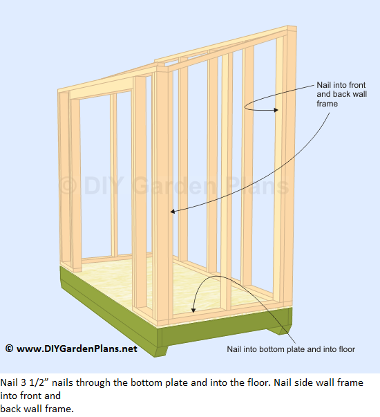 How to build the lean to shed side walls cut roof rafters for Side of the house storage shed