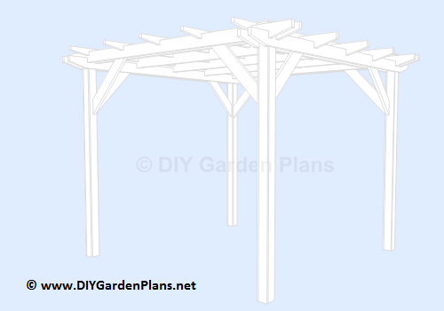 pergola plans with guide and material list PDF download