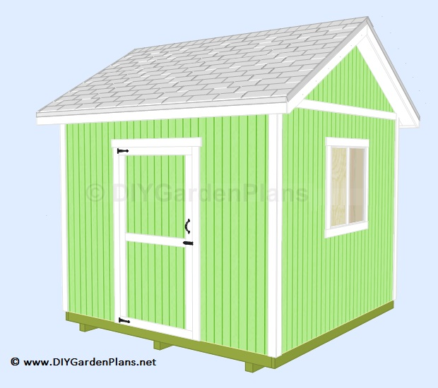how to build this shed. Instructions for the floor, walls, roof, door ...