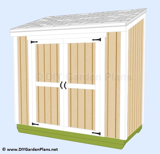 Follow the plans to build a small shed lean to design