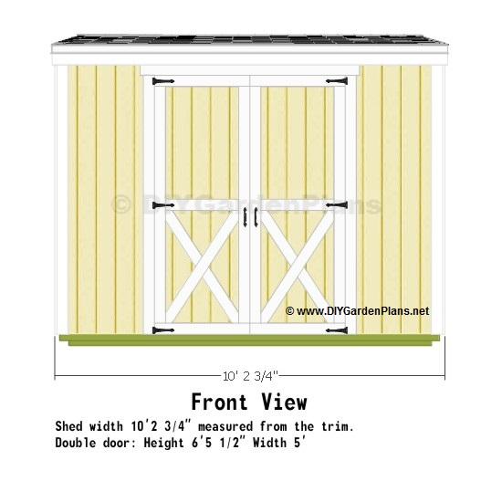 Edim 6 x 10 shed plans loft must see for Salt shed design