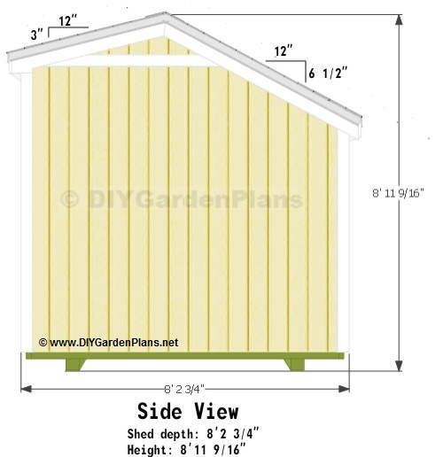 10 x 8 pent shed plans designers learn how for Salt shed design