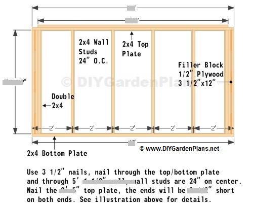 Back Wall Saltbox Shed Plans Page 6