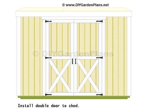 plans for shed door