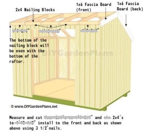 Fascia and soffit saltbox shed plans page 10 for 10x8 shed floor plans