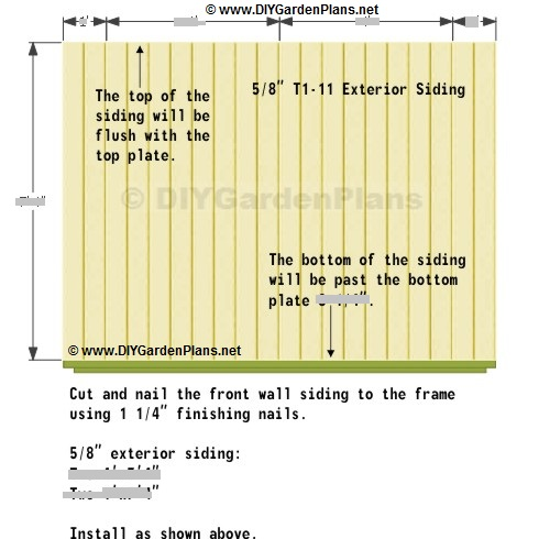 saltbox shed front wall siding installation instructions