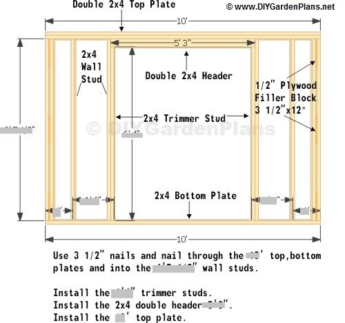 Front Wall Saltbox Shed Plans Page 5