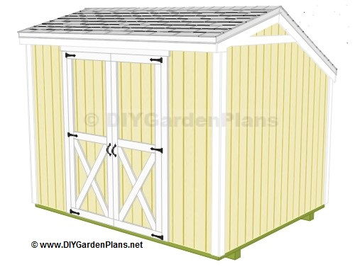 Nale complete diy 8x8 shed plans hip for Saltbox garden shed plans