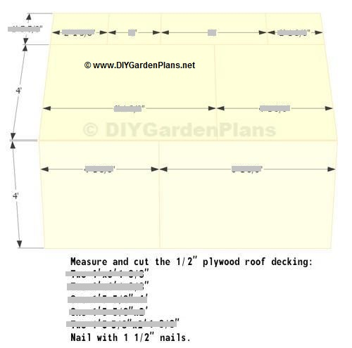Roof deck saltbox shed plans page 11 for 10 x 8 deck plans