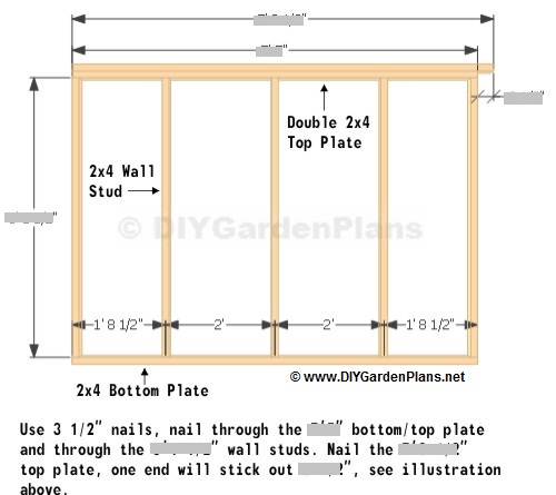 Side wall saltbox shed plans page 7 for 10x8 shed floor plans
