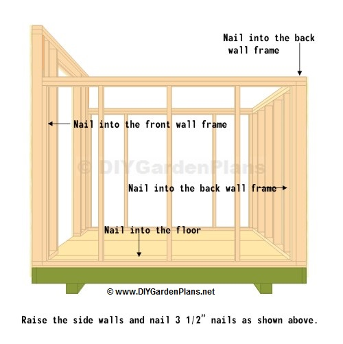 Side Wall: Saltbox Shed Plans - Page 7