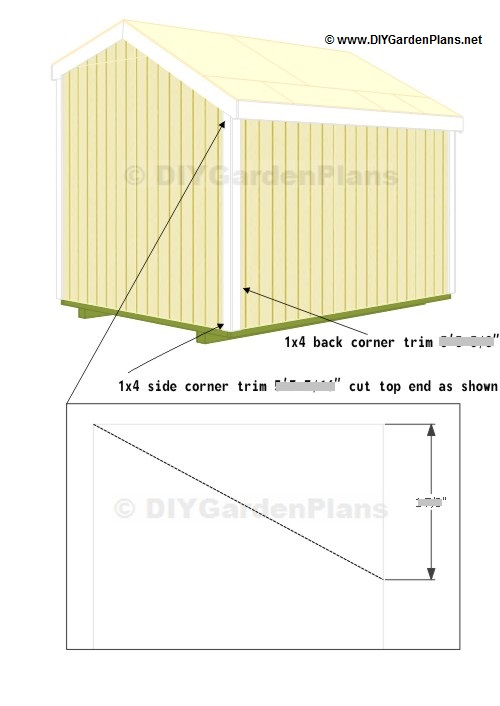 Trim: Saltbox Shed Plans - Page 12