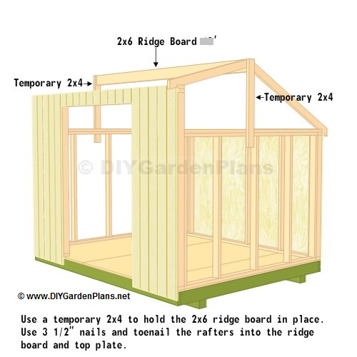 roof ridge board saltbox shed plans